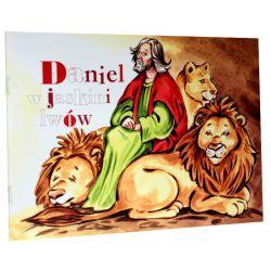 Daniel w jaskini lwów. Kolorowanka