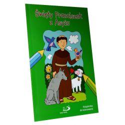 Święty Franciszek z Asyżu. Kolorowanka