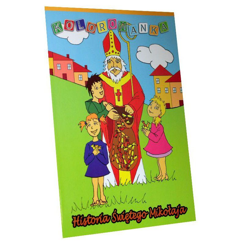 Historia Świętego Mikołaja. Kolorowanka
