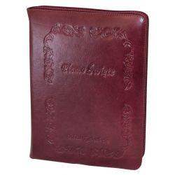 Biblia Tysiąclecia duża skóra zamek bordowa