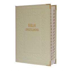 Biblia Jerozolimska skóra ecru paginacja