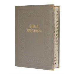 Biblia Jerozolimska skóra szara paginacja