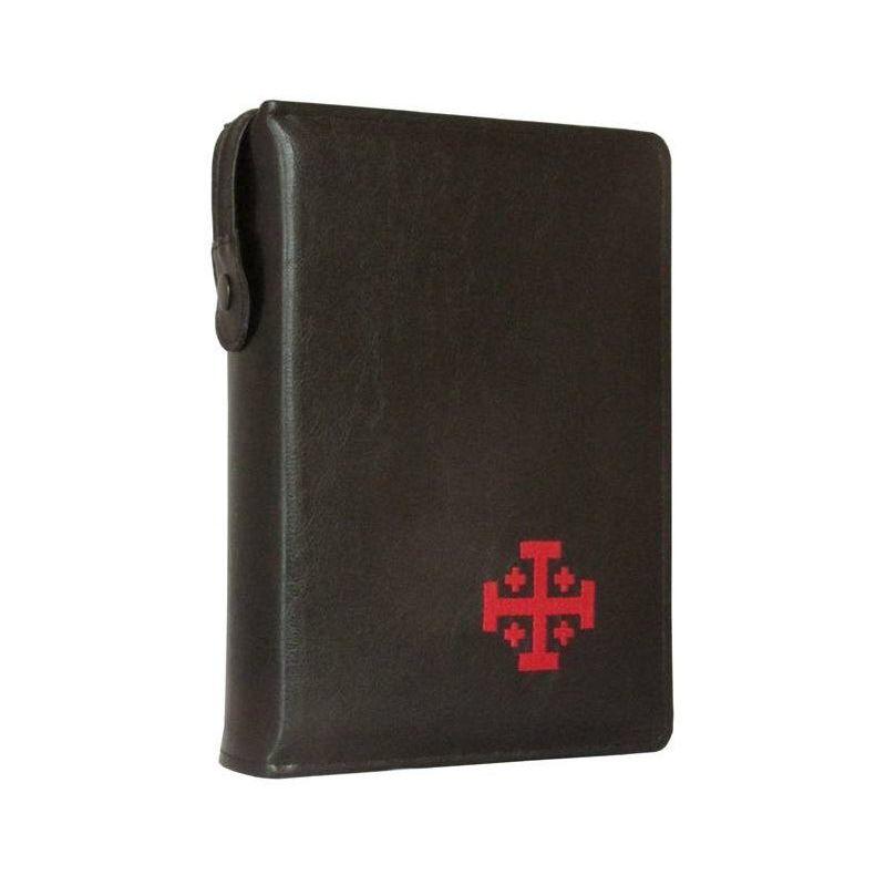 Biblia Jerozolimska z etui czarne haft czerwony