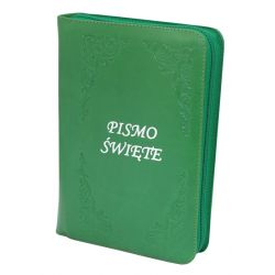 Biblia Tysiąclecia oazowa zieleń skóra zamek