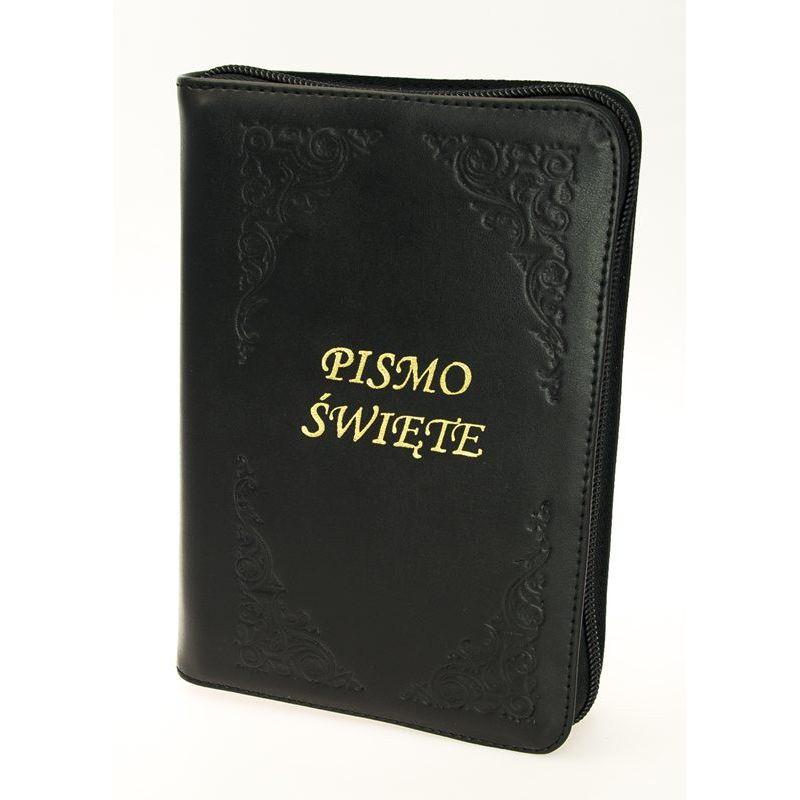 Pismo Święte Biblia Tysiąclecia oazowa paginacja skóra zamek złoty