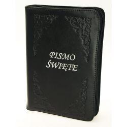 Pismo Święte Biblia Tysiąclecia oazowa paginacja skóra zamek srebro