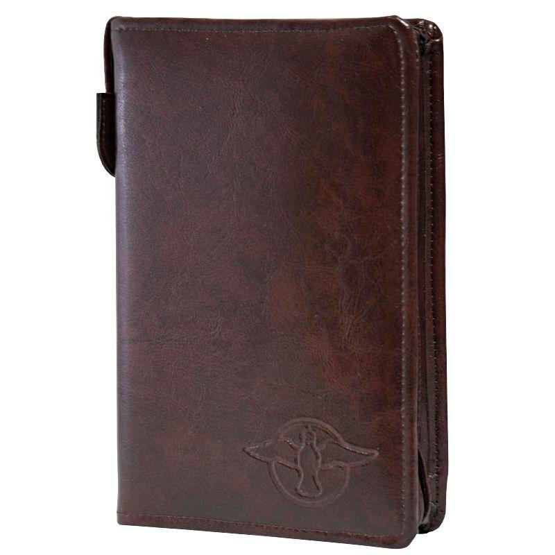Biblia Edycja św. Pawła szara z etui kasztan