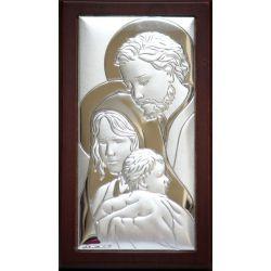 Obrazek srebrny Święta Rodzina 7,5x13,5
