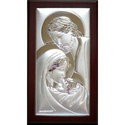 Obrazek srebrny Święta Rodzina II 7,5x13,5