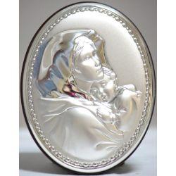 Obrazek Matka Boża z Dzieciątkiem owal 9,5x7 cm