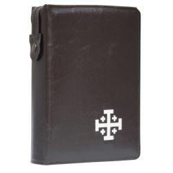 Biblia Jerozolimska z etui brąz haft paginacja