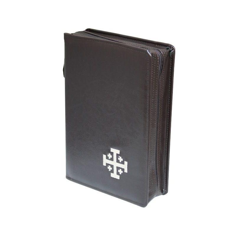Biblia Jerozolimska z etui brąz haft