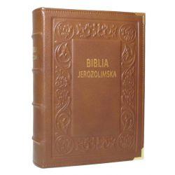 Biblia Jerozolimska brąz skóra