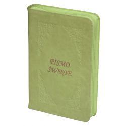 Pismo Święte Edycja Św. Pawła zamek zieleń jasna paginacja