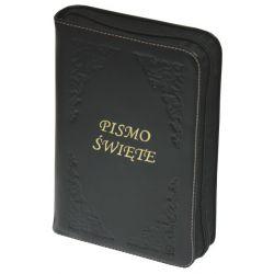 Pismo Święte Biblia Tysiąclecia oazowa paginacja zamek złoty czarny + biel