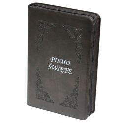 Pismo Święte Edycja Św. Pawła zamek złoty brąz paginacja