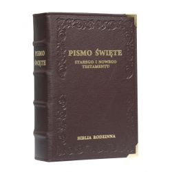Biblia Rodzinna skóra brąz
