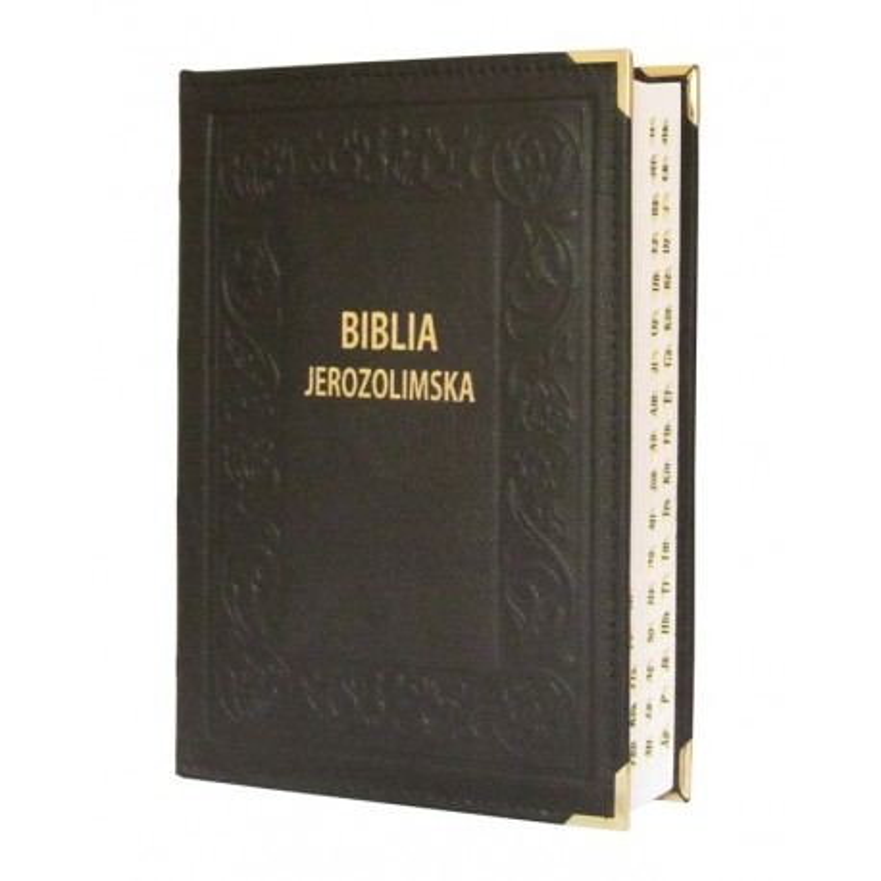 Biblia Jerozolimska czarna paginacja skóra