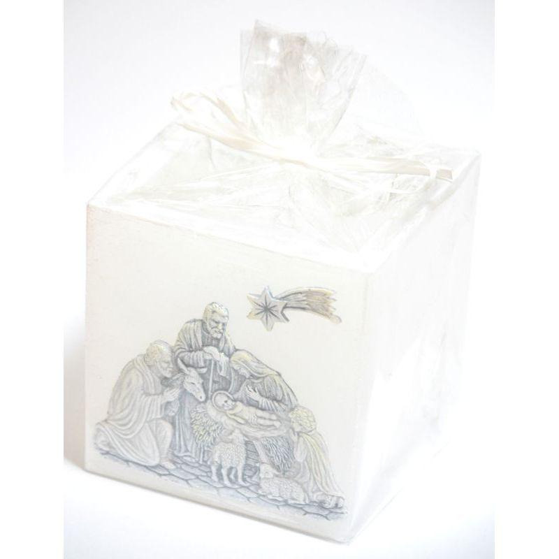 Świeca Christmas Lampion Kwadrat 110x105
