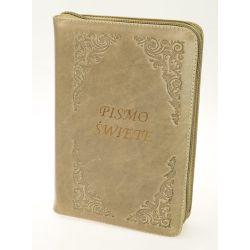 Biblia tysiąclecia oazowa skóra zamek cappuccino