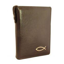 Biblia Tysiąclecia duża paginacja etui haft brązowe