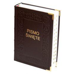 Biblia Tysiąclecia duża paginacja czarna Skóra