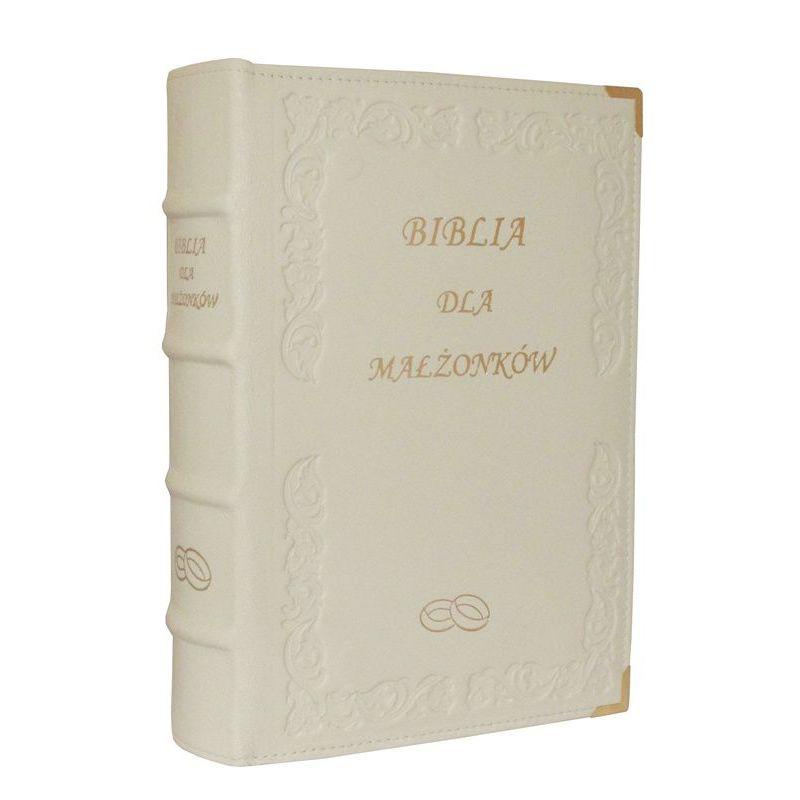 Biblia dla Małżonków ze złotymi brzegami skóra