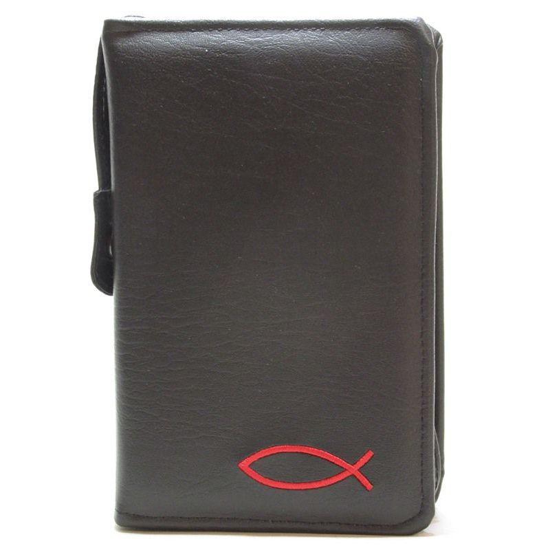 Etui Biblia Tysiąclecia mała (oazowa)Czarny Matowy z haftem Czerwonym