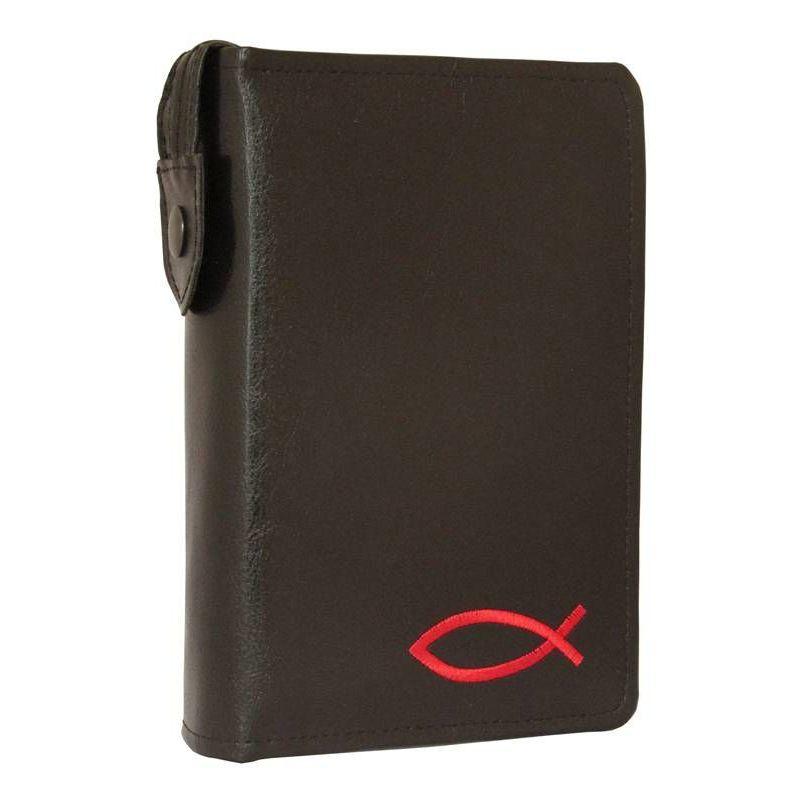 Etui Biblia Tysiąclecia mała (oazowa)Czarny z Czerwonym haftem