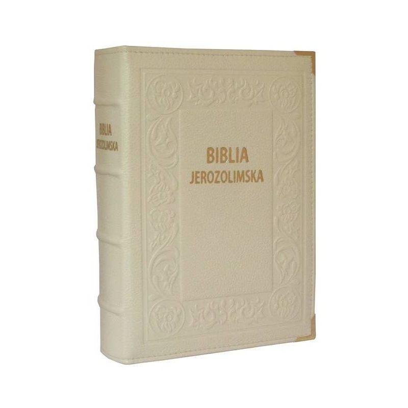 Biblia Jerozolimska ecru skóra
