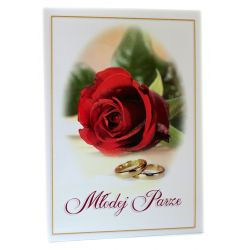 Młodej Parze. Pamiątka z okazji ślubu (róża czerwona)