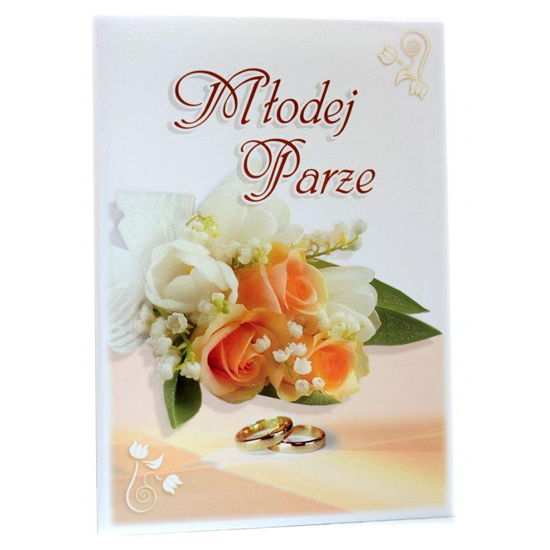 Młodej Parze. Pamiątka z okazji ślubu (róża herbaciana)