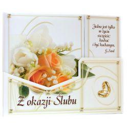 """""""Jedno jest tylko w życiu szczęście: kochać..."""". Pamiątka z okazji ślubu (róże herbaciane)"""