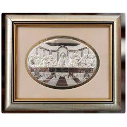 Ostatnia Wieczerza - obraz srebrny ramka zewn. 25 x 20,5