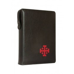 Etui Biblia Jerozolimska czarne haft