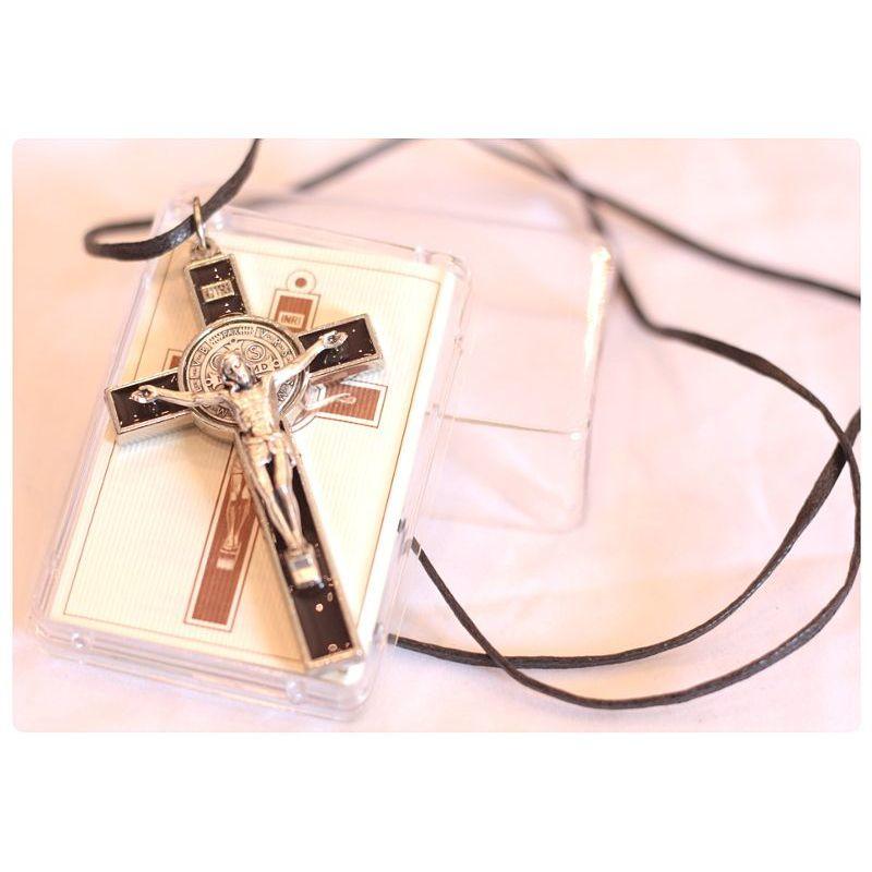 Krzyż św. Benedykt brąz ciemny