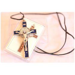 Krzyż św. Benedykt granatowy