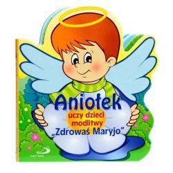 """Aniołek uczy dzieci modlitwy """"Zdrowaś Maryjo"""""""