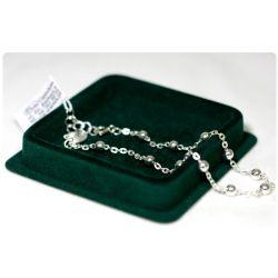 Srebrny różaniec bransoletka z medalikiem Niepokalana Panna Maryja